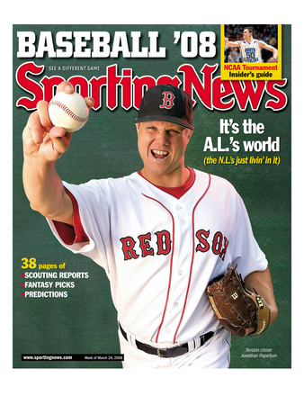 Red Sox Boston RP Jonathan Papelbon - March 17, 2008 Premium Poster