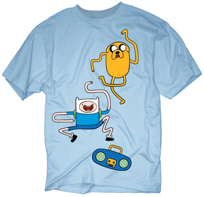Adventure Time Dance Dance, Finn and Jake dancing cartoon t-shirt