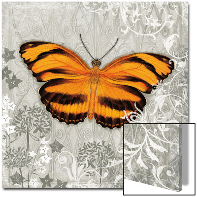 Orange Butterfly I Kunst auf Acryl