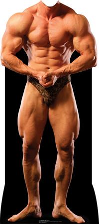 Muscle Man Lifesize Stand-In Cardboard Cutouts