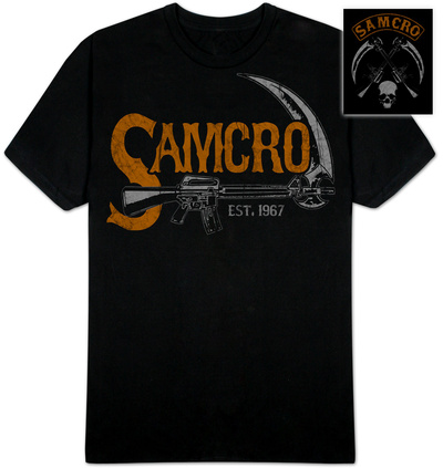 Sons of Anarchy - Vintage SAMCRO Sickle T-Shirt