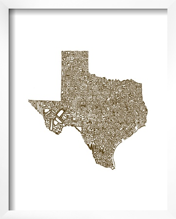 Typographic Texas Brown Posters by  CAPow