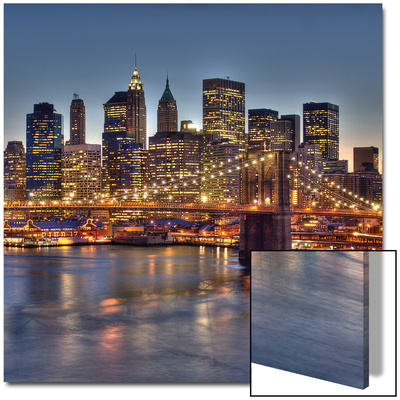 Manhattan Bridges Print by  Terrible