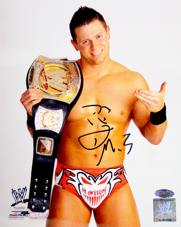 The Miz Signed Holding Belt Vertical Photo