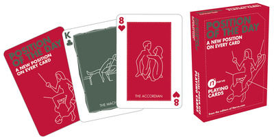Sex position playing card deck for