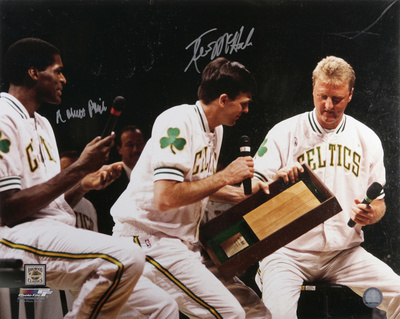 McHale & Parish Celtics Larry Bird Retirement Autographed Photo (Hand Signed Collectable) Photo