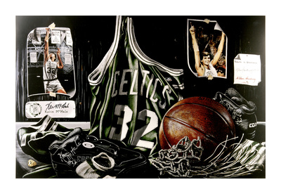 Kevin McHale Boston Celtics ''Tribute to Greatness''  20x30 Litho By Allen Hackney Fotografía