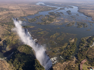 Victoria Falls, UNESCO World Heritage Site, Zambesi River, on the Border of Zambia and Zimbabwe Photographie