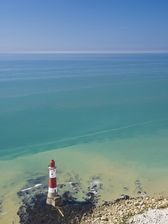 Beachy Head Lighthouse, East Sussex, English Channel, England, United Kingdom, Europe Photographic Print by Neale Clarke