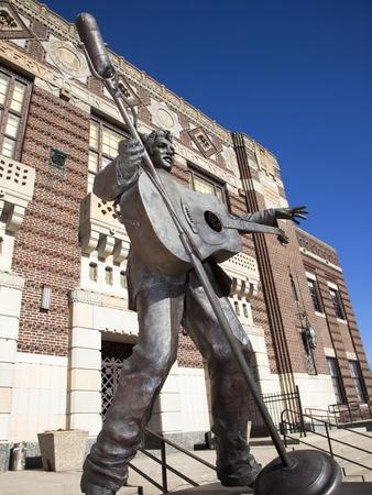 Statue of Elvis Presley in Shreveport, Louisiana, United States of America, North America Photographic Print by Donald Nausbaum