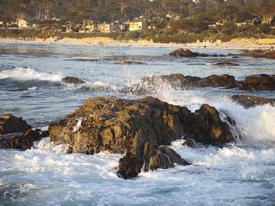 Rocky Coast Along Ocean Drive in Carmel, California, United States of America, North America Photographic Print by Donald Nausbaum