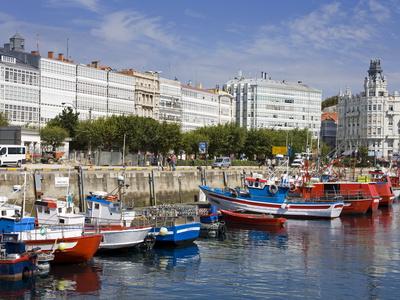 Fishing Boats in Darsena Marina, La Coruna City, Galicia, Spain, Europe Photographic Print by Richard Cummins