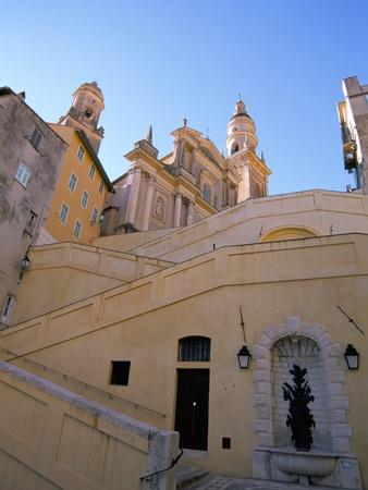 St. Michel Church, Menton, Alpes-Maritimes, Cote D'Azur, Provence, French Riviera, France Photographic Print by Sergio Pitamitz