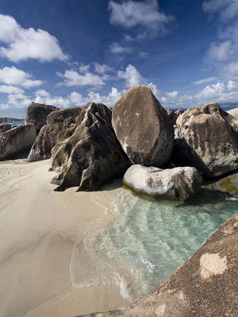 Large Eroded Granite Outcrops at the Baths in Virgin Gorda, British Virgin Islands, West Indies Photographic Print by Donald Nausbaum