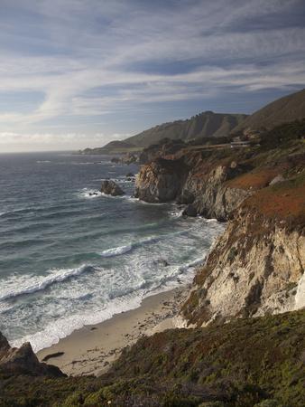 Rocky Shoreline South of Carmel, California, United States of America, North America Photographic Print by Donald Nausbaum