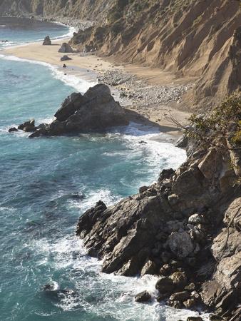 Rocky Stretch of Coastline in Big Sur, California, United States of America, North America Photographic Print by Donald Nausbaum