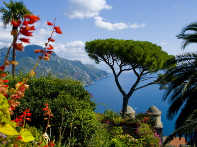View of the Amalfi Coast Italian coastline from Ravello photo by Charles Bowman Rufolo