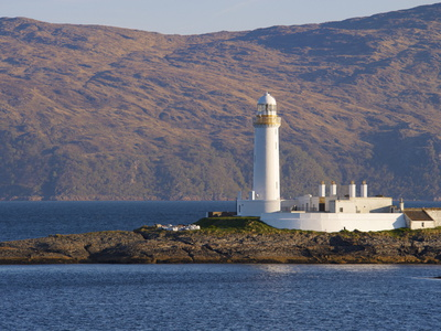 Lismore Lighthouse From the Craignure-Oban Ferry, Highlands, Scotland, United Kingdom, Europe Photographic Print by Patrick Dieudonne