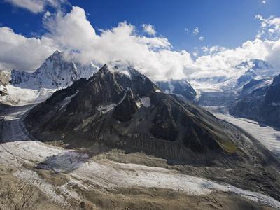 Mer De Glace Glacier, Mont Blanc Range, Chamonix, French Alps, France, Europe Photographic Print by Christian Kober