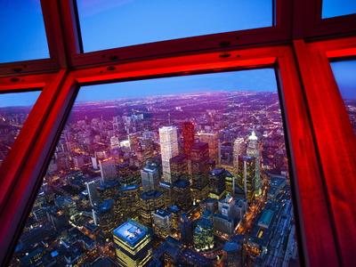 View of Downtown Toronto Skyline Taken From Cn Tower, Toronto, Ontario, Canada, North America Photographic Print by Donald Nausbaum