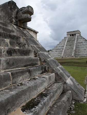 Venus Platform With Kukulkan Pyramid in the Background, Chichen Itza, Yucatan, Mexico Photographic Print