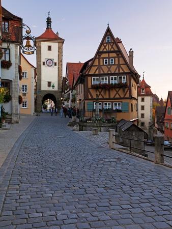 Ploenlein, Siebers Tower, Rothenburg Ob Der Tauber, Franconia, Bavaria, Germany, Europe Photographic Print by Gavin Hellier