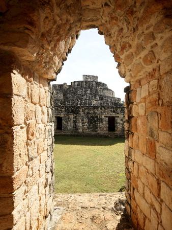 View Through the Entrance Arch, Mayan Ruins, Ek Balam, Yucatan, Mexico, North America Photographic Print