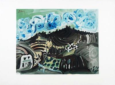 Blick aus dem Atelier Posters van Pablo Picasso