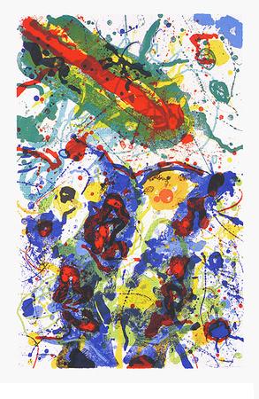 Untitled, c.1989 L 282/SF 341 Plakater af Sam Francis