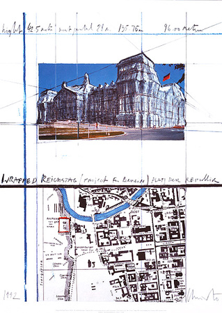 Reichstag XXI Plakater af  Christo
