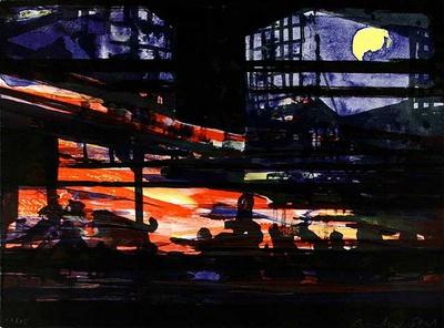 Nacht, c.1999 Limited Edition av Reinhard Stangl