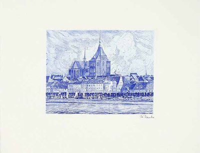 Rostock, Gesamtansicht Collectable Print by  Bruck