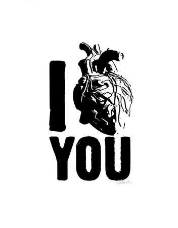 I Heart You Serigrafi