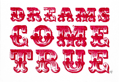 Dreams Come True (Red) Serigrafa