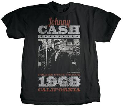 Johnny Cash - Arrival (premium) T-Shirt by Jim Marshall