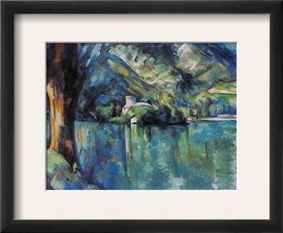 Cezanne: Annecy Lake, 1896 Framed Giclee Print by Paul Cézanne