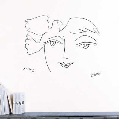 平和の顔(ピカソ)ウォールステッカー・壁用シール ウォールステッカー : パブロ・ピカソ