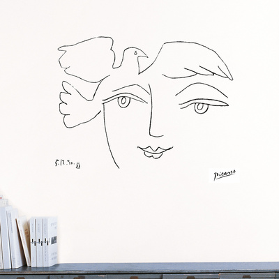 Le Visage de la paix, 1950 Wall Decal by Pablo Picasso