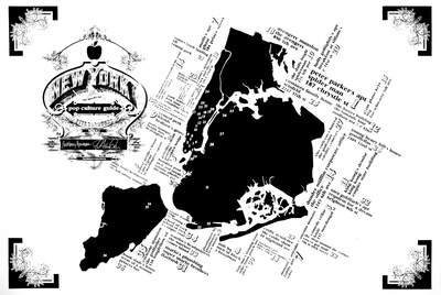 New York Pop Culture Map Serigraph