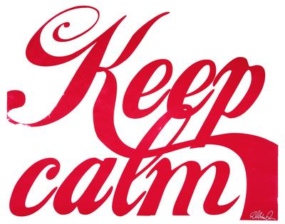 Keep Calm (Red & White) Serigrafie