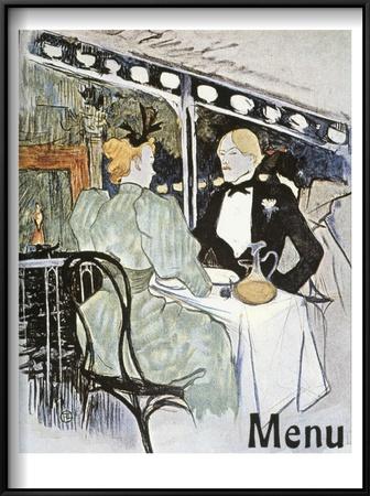 Toulouse-Lautrec: Menu Art by Henri de Toulouse-Lautrec