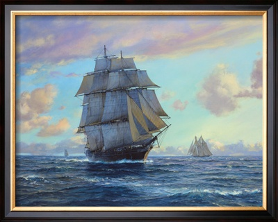 Empress Of The Seas Framed Giclee Print by Roy Cross