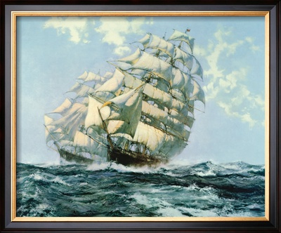 Ariel and Taeping Framed Giclee Print by Montague Dawson