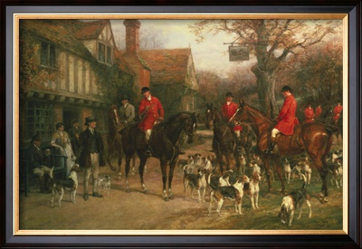 The Meet Framed Giclee Print by Heywood Hardy