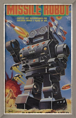 Missile Robot Framed Art Print