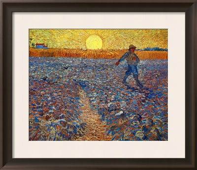 The Sower, c.1888 Framed Giclee Print by Vincent van Gogh
