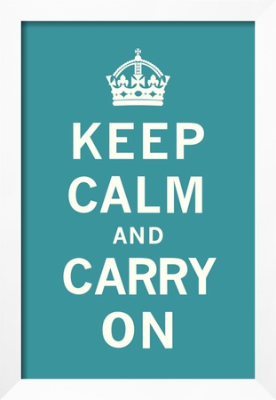Keep Calm and Carry On Framed Giclee Print