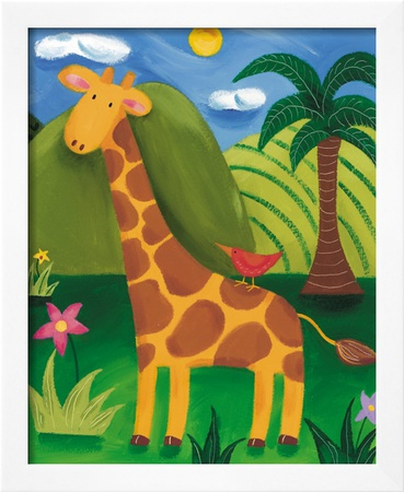 Gerry the Giraffe Framed Giclee Print by Sophie Harding