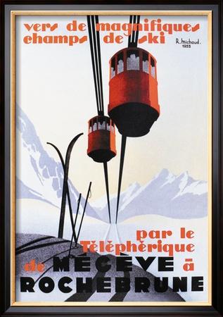 Skiing and Tram Posters af Paul Ordner
