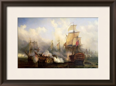 The Redoutable at Trafalgar, 21st October 1805 Framed Giclee Print by Auguste Etienne Francois Mayer